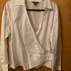 White wrap shirt